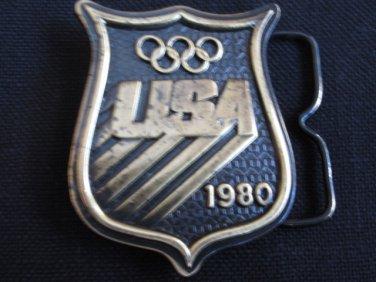 1980 U.S.A. Olympics Brass Belt Buckle