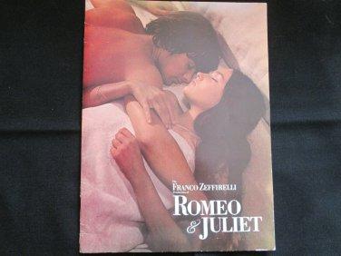 Romeo & Juliet Souvenir Program (1968 Movie)