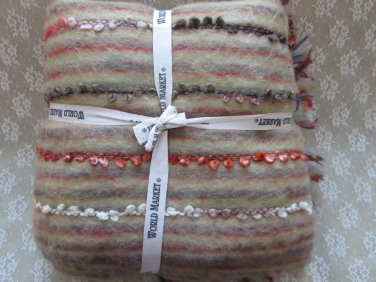 World Market - Multi-Color Faux Mohair Throw