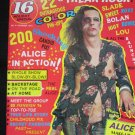 16 Magazine-Alice Cooper & Freak Rock, Holiday Special 1973 (Vintage)