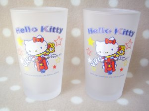 Sanrio Japan Hello Kitty x OMC Pair Glass Cup SET RARE!