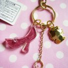 HELLO KITTY Kawaii Accessory Gold Colored Keyring Strap Sanrio JAPAN Original 1