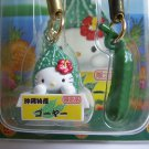 GOTOCHI HELLO KITTY Kawaii Mobile Cell Phone Figure Strap Set OKINAWA  JAPAN Goya 2003