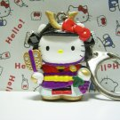 GOTOCHI HELLO KITTY Kawaii Mascot Figure YAMANASHI JAPAN Keychain Shingen Takeda SAMURAI 2001
