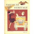AMERICAN HERITAGE AUGUST 1965