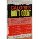 CALORIES DON'T COUNT BY HERMAN TALLER 1961 HARDCOVER