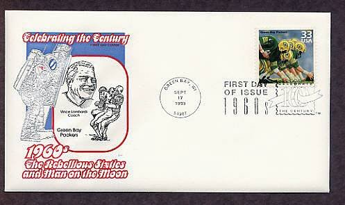 Green Bay Packers, Football Coach Vince Lombardi, CTC First Issue USA