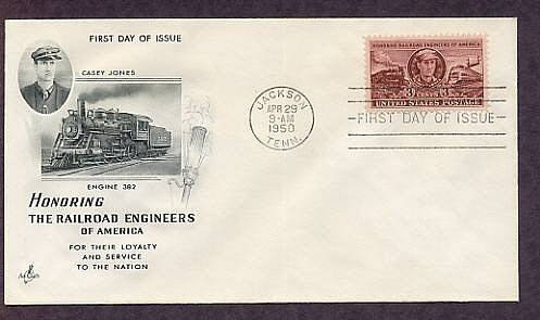Railroad Engineer Casey Jones, Locomotives, First Issue 1950 USA