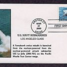 Navy Submarines, Los Angeles USS La Jolla, Missile, First Issue FDC USA