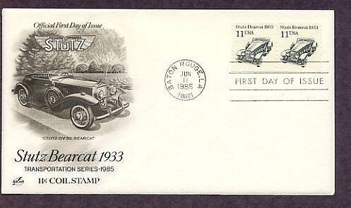 Stutz Bearcat 1933, Automobile, First Issue USA FDC