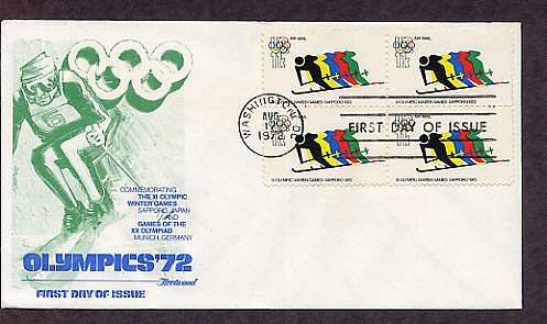 Olympics 72, Winter Games Sapporo, 1972 First Issue USA