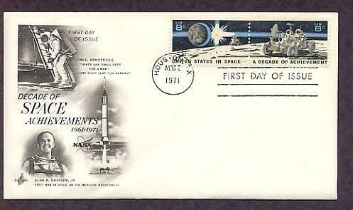 NASA Apollo 15, Moon Rover, Space Astronauts, 1971 First Issue, Texas, USA
