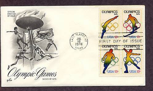 Olympics, Lake Placid, New York, 1976 First Issue USA