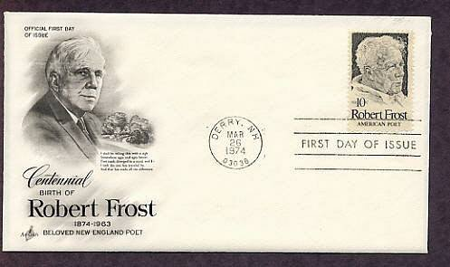 Honoring Robert Frost American Poet First Issue USA