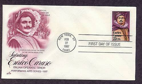 Enrico Caruso, Operatic Italian Tenor, Opera, First Issue USA