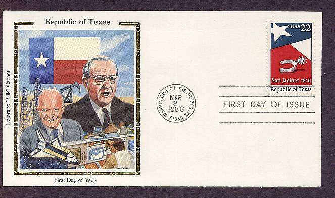 Texas Silver Spur, Eisenhower, Johnson Space Center First Issue USA