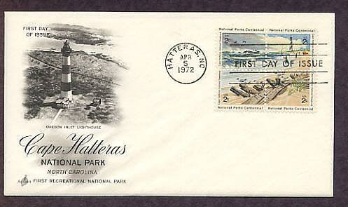Cape Hatteras National Park, North Carolina Lighthouse 1972 First Issue USA