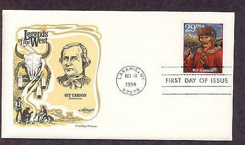 Kit Carson, Western Legend, Wyoming, First Issue USA