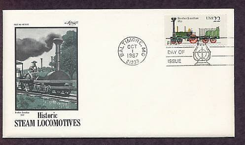 Railroad Steam Locomotive, Brother Jonathan, First Issue USA