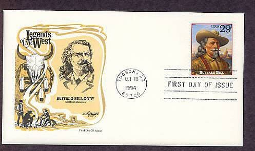 Buffalo Bill Cody Legends of the West, First Issue USA