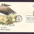 Louisiana State Bird, Pelican, Flower Magnolia, First Issue USA