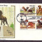 American Dog Breeds, Old Drum, First Issue FDC USA