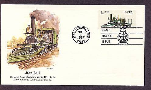 Railroad Steam Locomotive, John Bull, First Issue USA