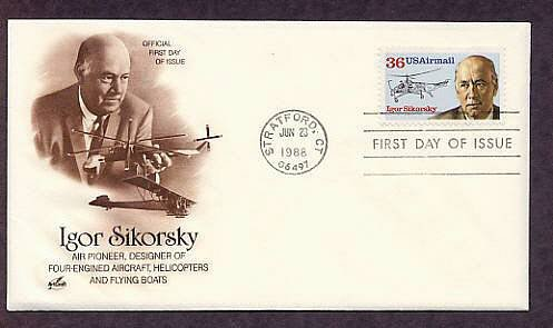 Igor Sikorsky, Helicopter, Aircraft Aviation, Stratford, Connecticut First Issue USA