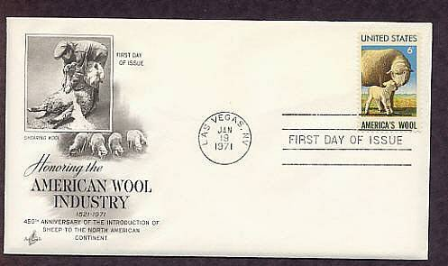 Sheep, American Wool Industry, Lamb, 1971 First Issue USA