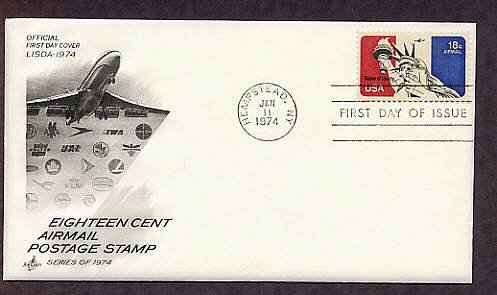Statue of Liberty, Commercial Airlines, Airmail USPS, First Issue USA