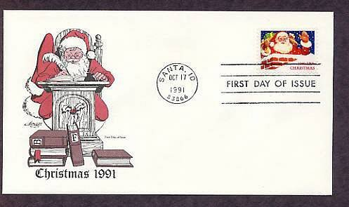 1991 Christmas USPS Stamp, Santa Claus, First Issue USA