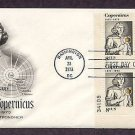 Polish Astronomer Nicolaus Copernicus, Plate Numbered Block, First Issue FDC USA