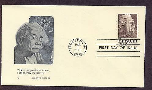 Albert Einstein, Theory of Relativity, Physics Nobel Prize, Princeton, First Issue FDC USA