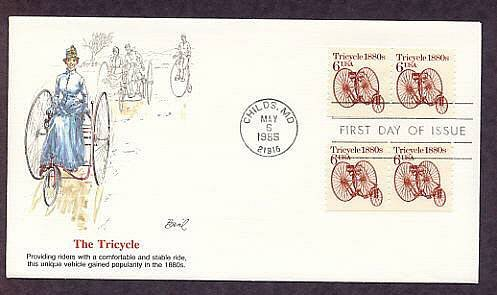 Tricycle 1880s, Transportation, First Issue Fleetwood USA