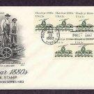 Railroad Handcar 1880s, Transportation, First Issue USA