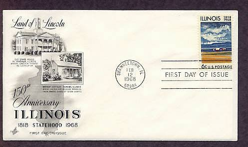 Illinois Statehood 150th Anniversary, Land of Lincoln First Issue USA