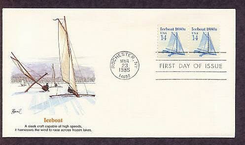 Iceboat 1880s, Fastest of All Winter Sports, First Issue USA