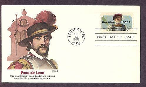 Spanish Conquistador and Florida Explorer Ponce de Leon First Issue USA