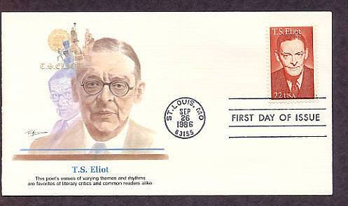 Honoring Nobel Prize Winner Writer, Poet, T. S. Eliot, First Issue USA