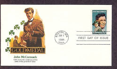 Honoring Great Irish Tenor John McCormack, Fleetwood First Issue USA