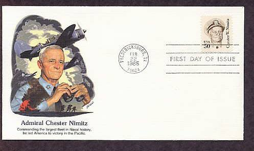 Honoring World War II Admiral Chester W. Nimitz, First Issue USA