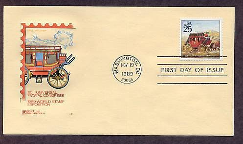 Stagecoach Mail Delivery, First Issue USA USPS