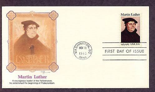 Martin Luther, Leader of the Reformation,  Established Protestantism First Issue USA