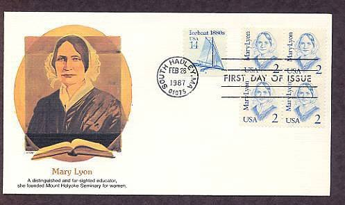 Honoring Mary Lyon, Founder Mount Holyoke Seminary for Women First Issue USA