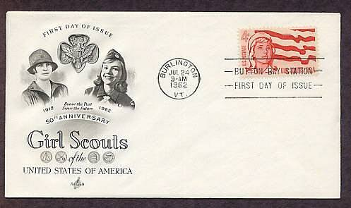 Girl Scouts of America 50th Anniversary First Issue 1962 USA