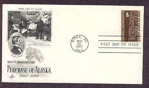 100th Anniversary Purchase of Alaska from Russia, Totem Pole, First Issue USA