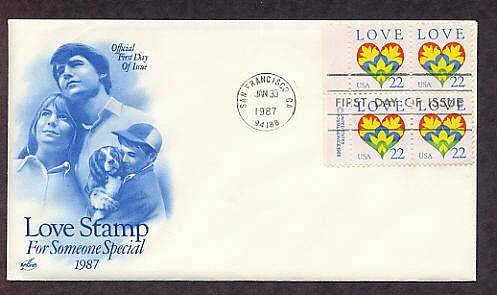 1987 Love Postage Stamp, For Someone Special, USPS First Issue USA