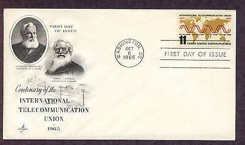 International Telecommunication Union, Samuel F. B. Morse, Alexander Graham Bell, First Issue