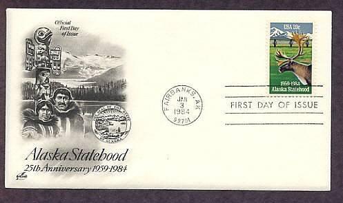 Alaska Statehood, Fairbanks, Caribou, First Issue USA