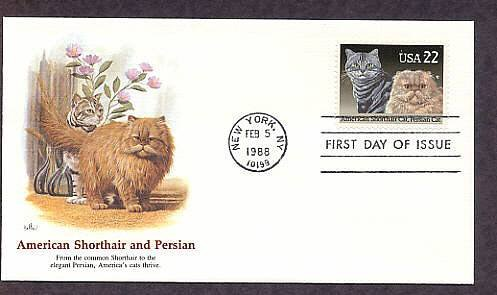 Pet Cats, American Shorthair, Persian Cat, First Issue USA